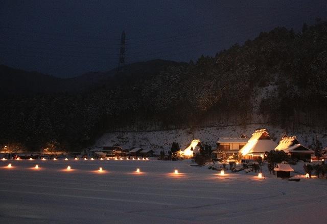 美山かやぶきの里・雪灯廊